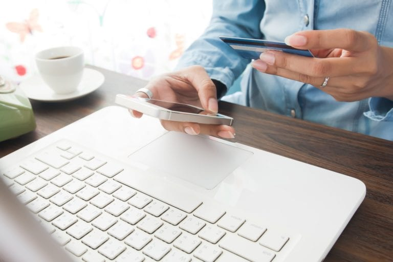 Online payment, using mobile phone